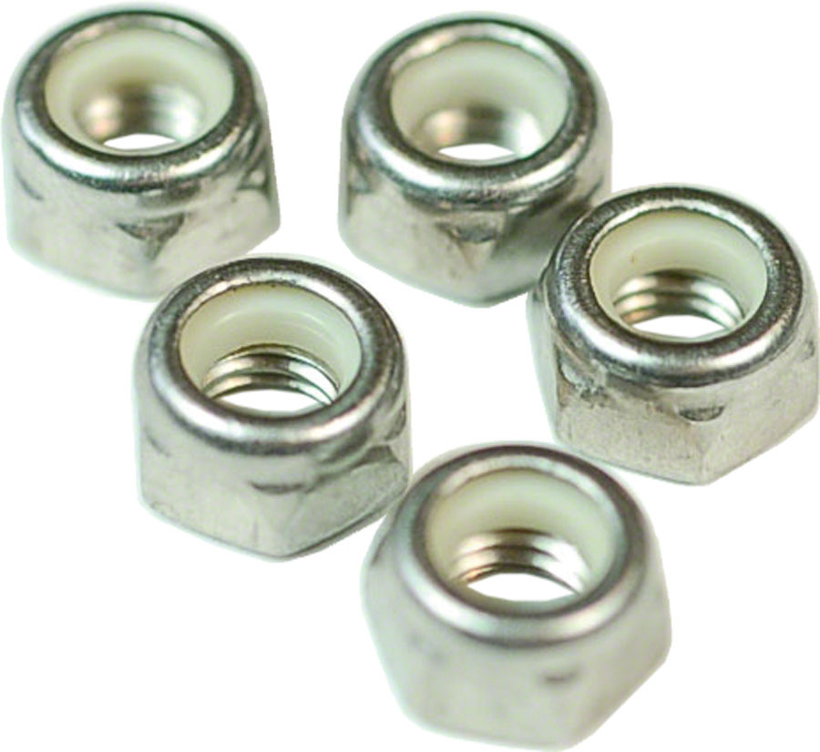 Wheels Manufacturing M6 Nylock Hex Nut Stainless Steel Bottle/50