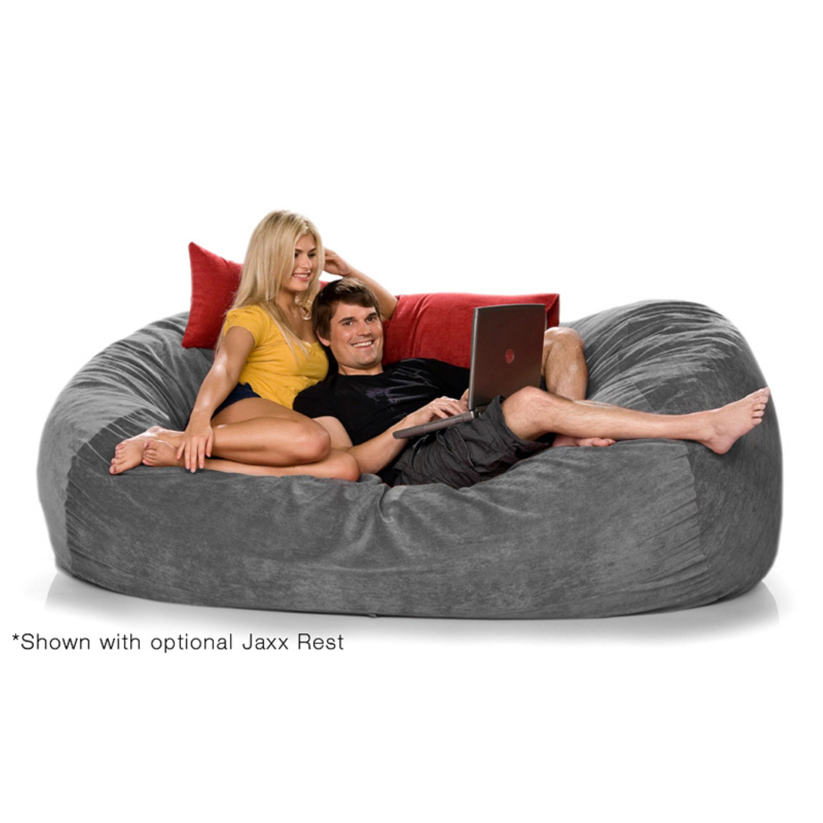Jaxx 7.5 ft Lounger Microsuede Large Foam Sofa