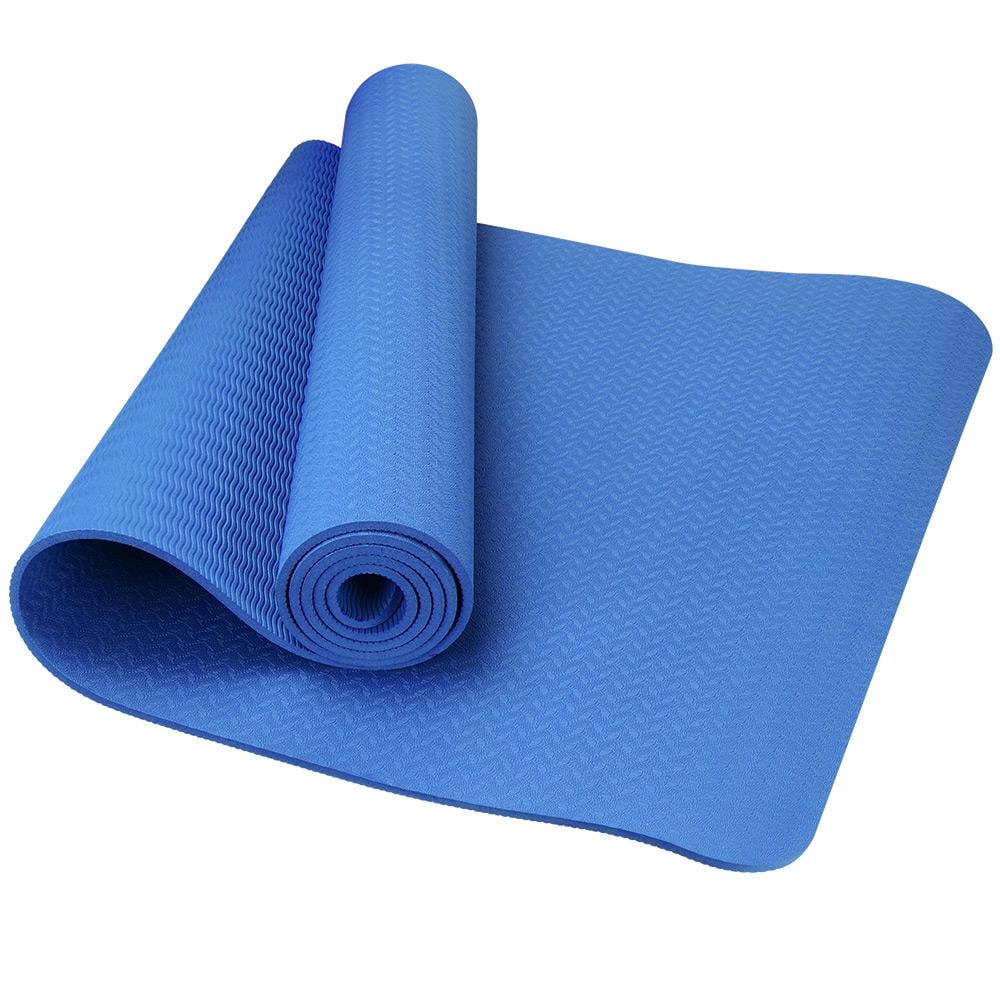 Yoga Mat Workout Eco Friendly Premium TPE Fitness Non Slip