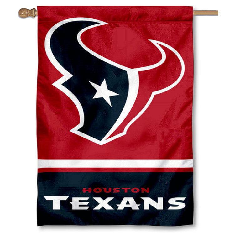 """Houston Texans Logo 28"""" x 40"""" House Flag"""
