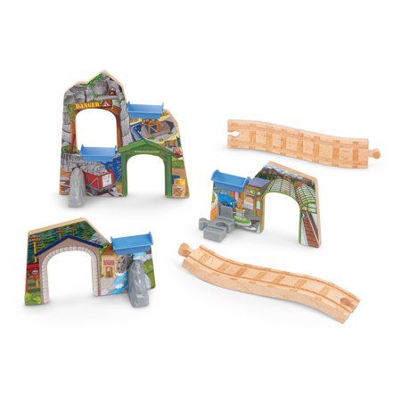 fisher price thomas the train wooden railway scenes of sodor tunnel set. Black Bedroom Furniture Sets. Home Design Ideas