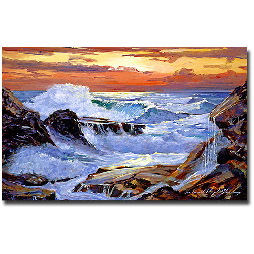 "Trademark Art ""Storm On The Irish Coast"" Canvas Wall Art by David Lloyd Glover"