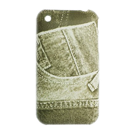 Jeans Pattern Hard Back Shell Case for Apple iPhone 3G - image 1 of 1