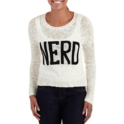 Juniors' Nerd Graphic Sweater