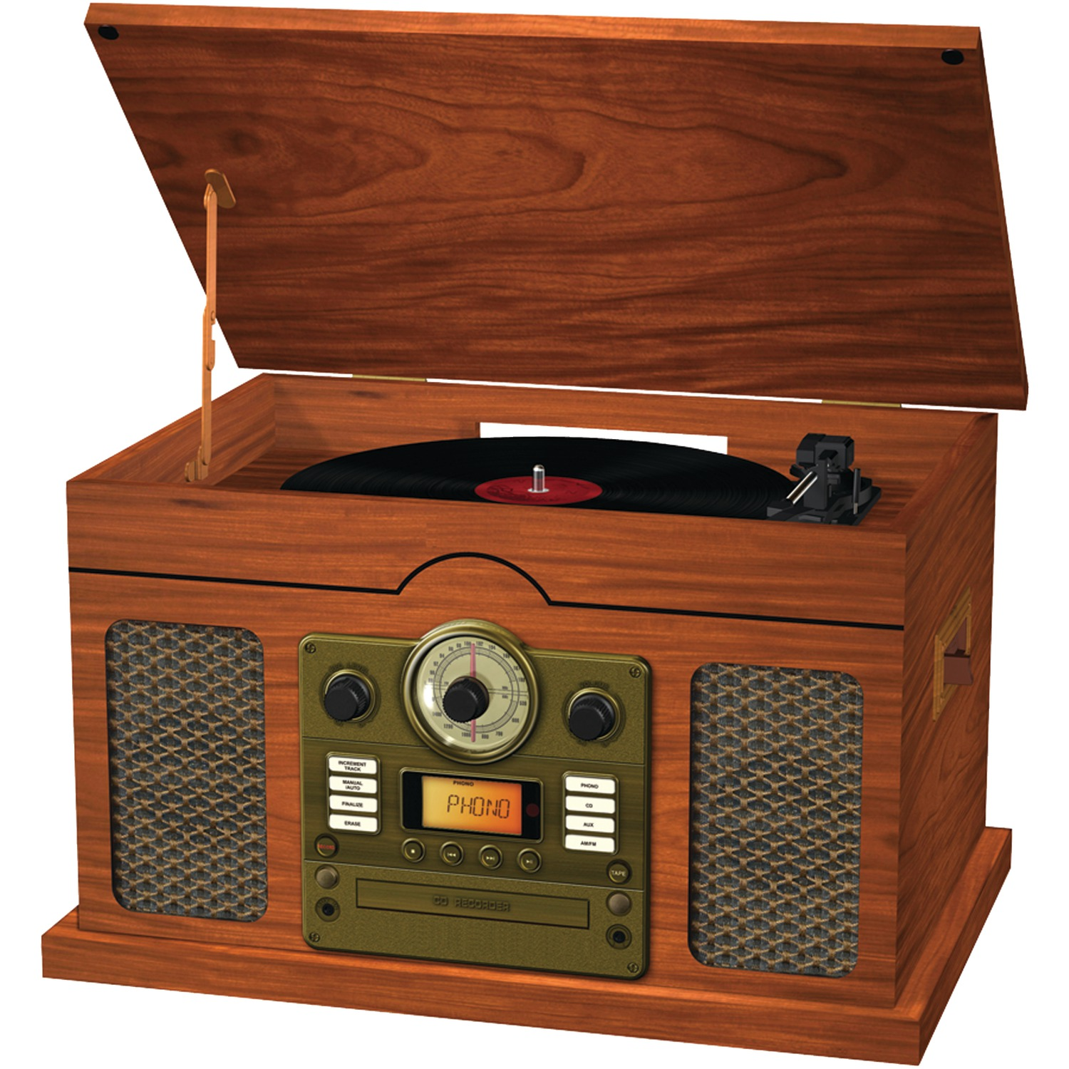 SYLVANIA SRCD844 Nostalgia 7-in-1 with Bluetooth(R) Turntable