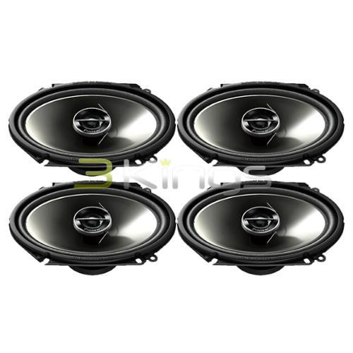 "2 NEW PAIRS PIONEER TS-G6844R 6"" x 8"" 2-Way TS Coaxial Car Speakers TSG6844R"