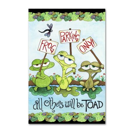 Trademark Fine Art 'Frog Parking' Canvas Art by Jennifer Nilsson ()