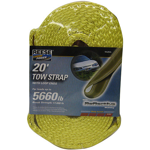 Reese Carry Power Tow Strap with Loop