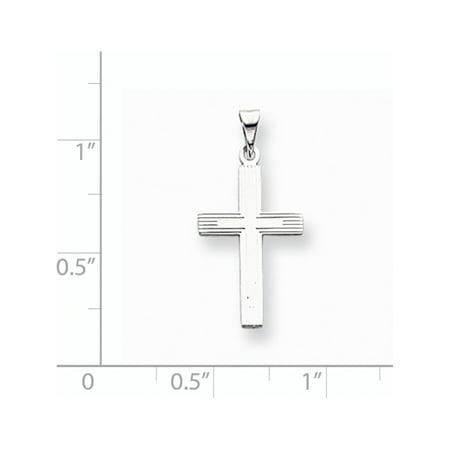 14k or blanc Croix solide (12x25mm) Pendentif / Breloque - image 1 de 2