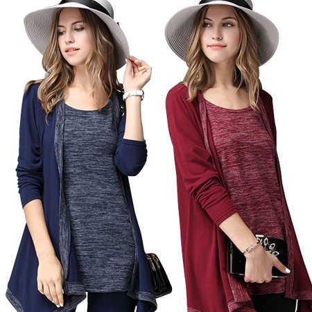 Navy Combo - What A Pair Top And Cardi Combo In Plus Sizes Too