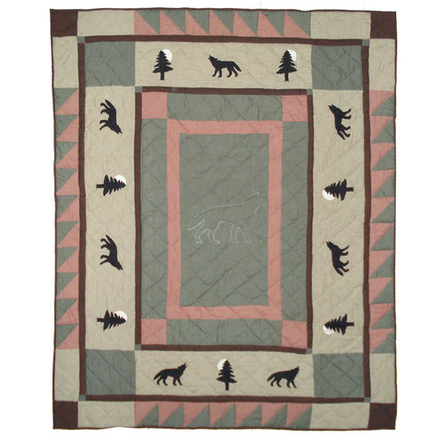Patch Magic Wolf Trail Cotton Throw Blanket