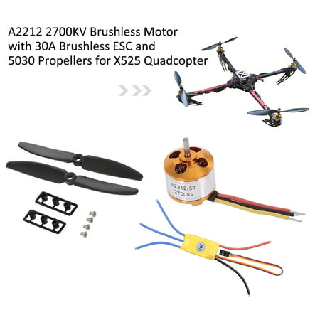 A2212 2700KV Brushless Motor with 30A Brushless ESC and Pair 5030 Propeller for X525 Quadcopter - image 1 of 7