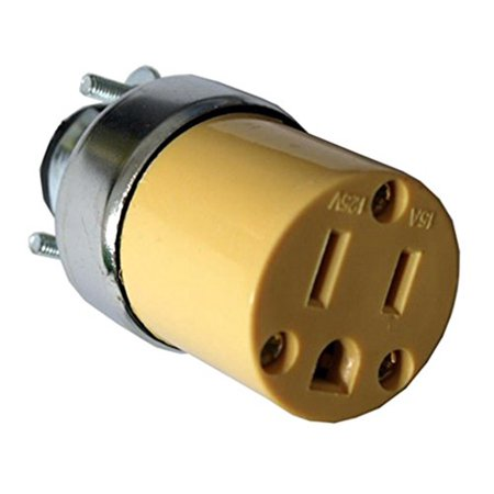 Electrical Plug Connections (5 Female Extension Cord Replacement Electrical Plugs 15AMP 125V End )