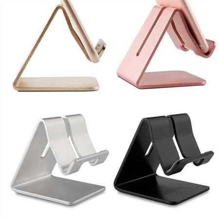 Solid Portable Universal Aluminum Desktop Desk Stand Hands Free Mobile Smart Cell Phone Holder Tablet Display Stand