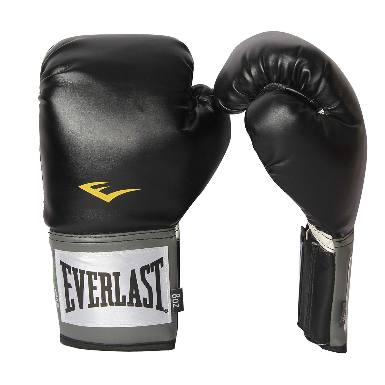 Everlast Pro Style Boxing Gloves, 12oz, Black