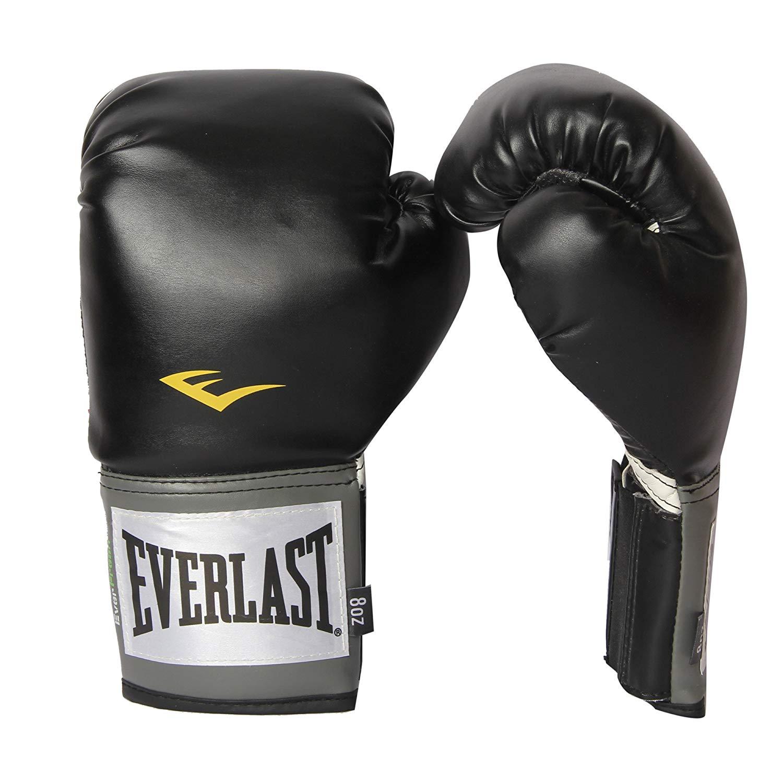 Everlast Pro Style Full Mesh Palm Training Boxing Gloves Size 8 Ounces, Black