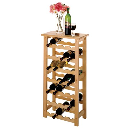 Winsome Wood Napa 28-Bottle Compact Sized Wine Rack, Natural Finish ()