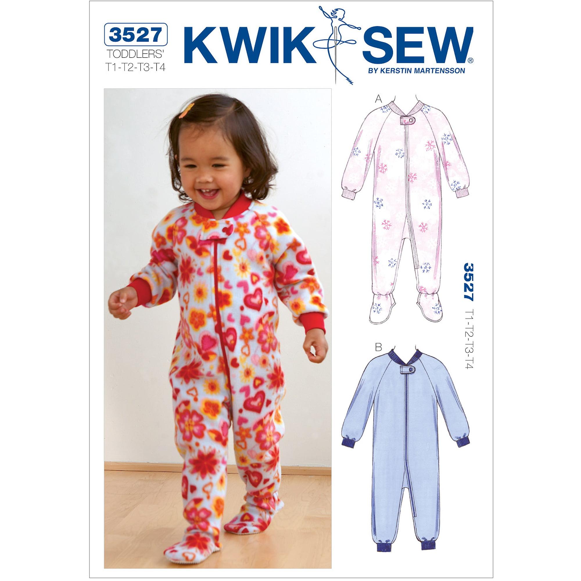 Kwik Sew Pattern Sleepers, (T1, T2, T3, T4)