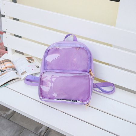 Top Knobs Clear Ita Bag Transparent Itabag Pin Display Backpack School Bags  Kawaii Window Girls School Bag