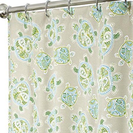 Extra Long Shower Curtains Tommy Bahama Fabric Blue Turtl