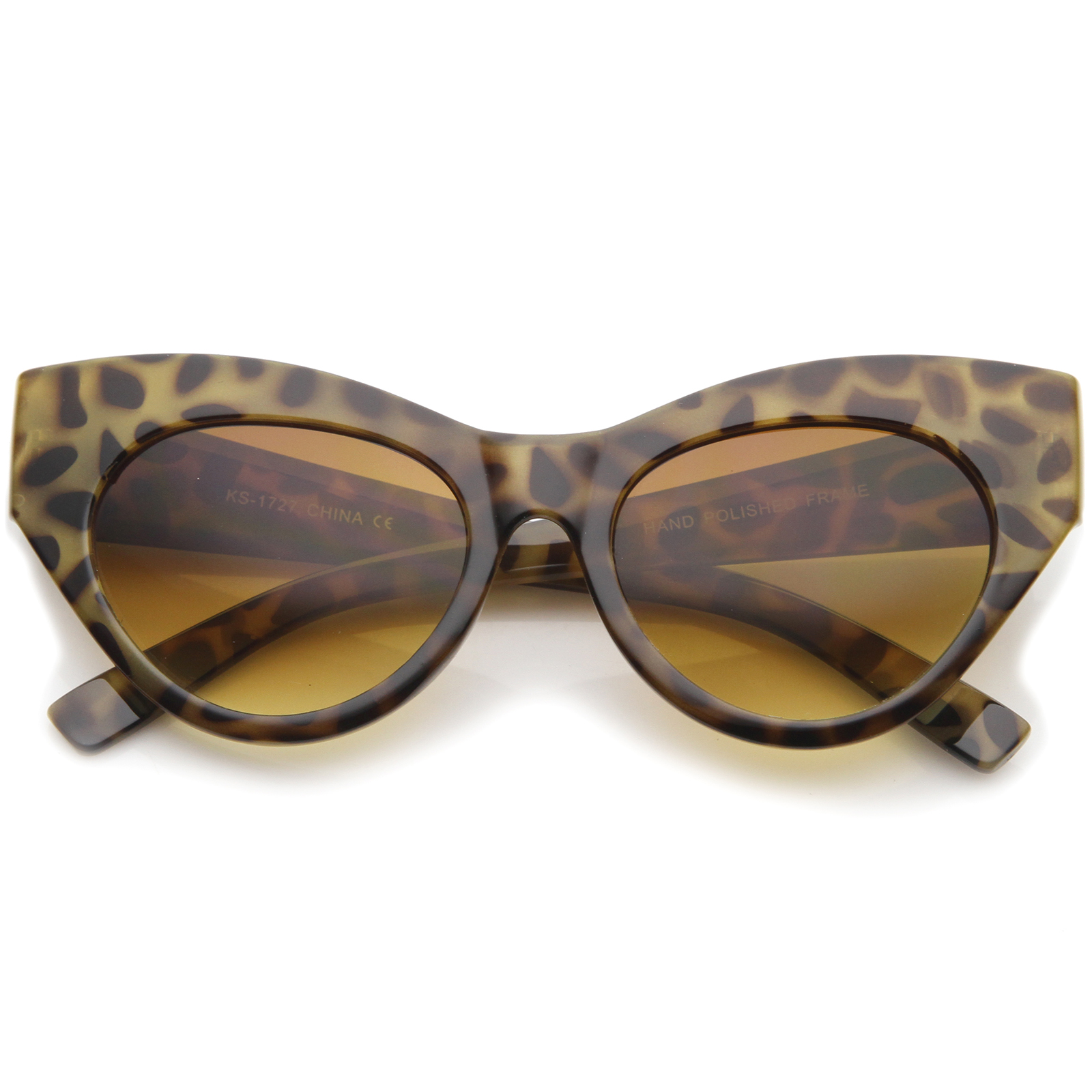 sunglassLA - Womens High Fashion Chunky Frame Oversize Bold Cat Eye Sunglasses - 57mm