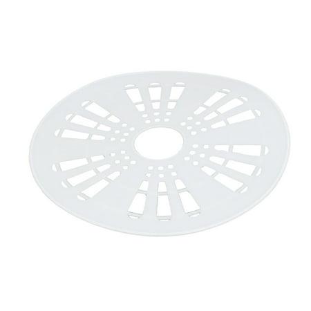 23.5cm Dia Plastic Semi Automatic Washing Machine Spin Cap Cover White