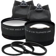 Precision Design 2.5x Telephoto & .45x Wide-Angle Digital Lenses (49mm/52mm/55mm/58mm)