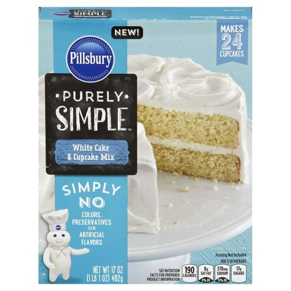 Pillsbury Purely Simple White Cake, 17 Oz
