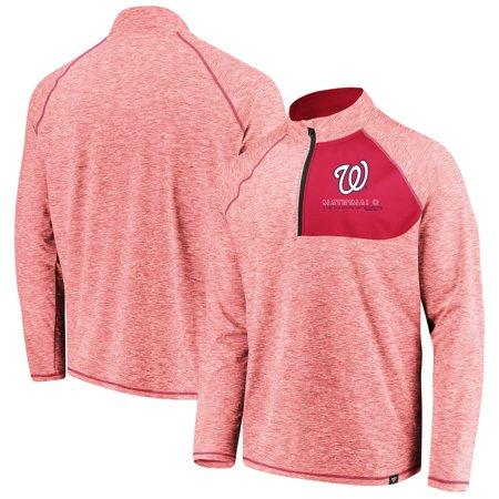 Washington Nationals Fanatics Branded Made 2 Move Quarter-Zip Jacket - Red