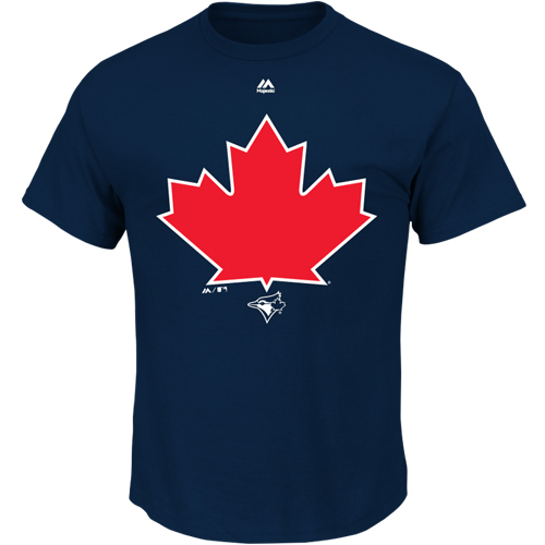 Toronto Blue Jays Majestic Alternate Cap Logo T-Shirt - Navy
