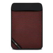 """BUILT MX Neoprene Slim Sleeve for 13"""" Notebooks Black & Red"""
