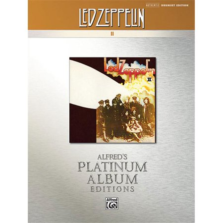 Alfred 00-32806 Led Zeppelin II Platinum Drums - Music Book