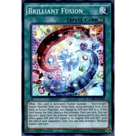 Yu-Gi-Oh Clash of Rebellions Single Card Super Rare Brilliant Fusion (Super Warriors Single Card)