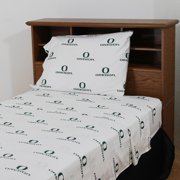 College Covers ORESSKGW Oregon Printed Sheet Set King - White