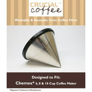 Chemex? 6, 8 & 10 Cup Washable & Reusable Steel Cone Coffee Filter