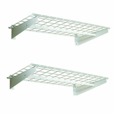 hyloft 00777 36-by-18-inch wall shelf with hanging rod,
