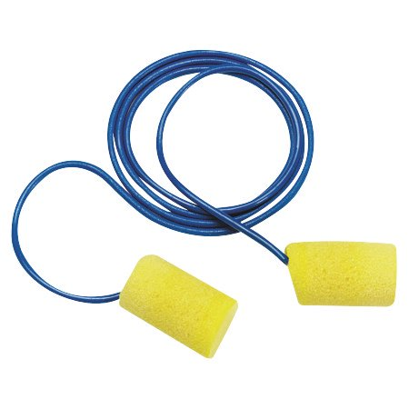 Image of E-A-R Classic Foam Earplugs, Metal Det. w/Cord, 200 pair per box