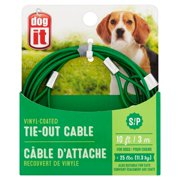 Dog It Vinyl-Coated Tie-Out Cable for Dogs