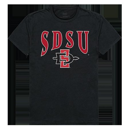 W Republic Apparel 527-177-E27-02 San Diego State University Athletic Tee, Black - Medium - image 1 of 1
