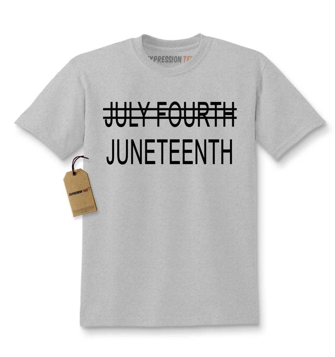Juneteenth (July Fourth Crossed Out) Kids T-shirt