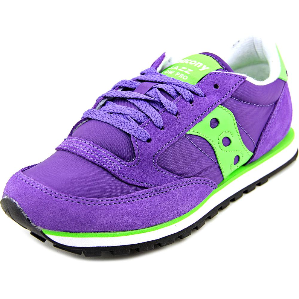 Saucony Women's Jazz Low Pro Women's Purple/Green Ankle-High Tennis Shoe - 8.5M