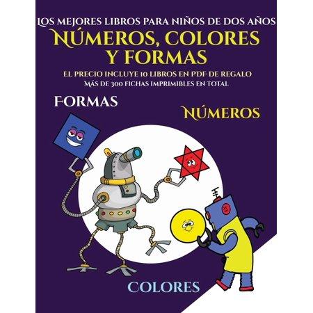 Los mejores libros para ni?os de dos a?os (Libros para ni?os de 2 a?os - Libro para colorear n?meros, colores y formas) : Un libro para colorear forma (Desenhos Para Colorir De Halloween)