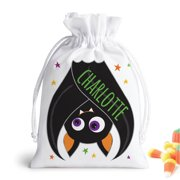 Personalized Halloween Bat Drawstring Gift Pouch