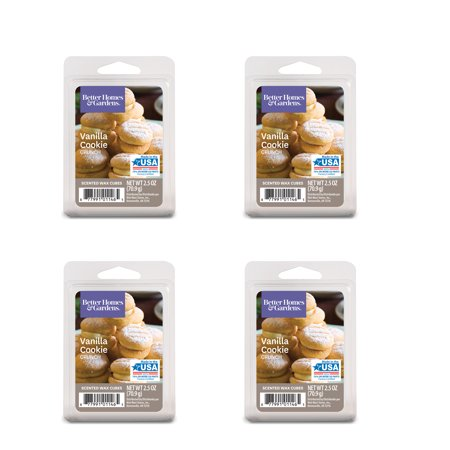 Vanilla Wax - Better Homes & Gardens 2.5 oz Vanilla Cookie Crunch Scented Wax Melts, 4-Pack