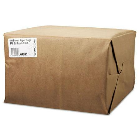General 1/6 BBL Paper Grocery Bag, 75lb Kraft, Standard 12 x 7 x 17, 400 bags - General Grocery Paper Bags