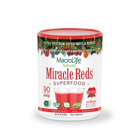 MacroLife Naturals Miracle Reds Superfood Powder, 1.9 Lb