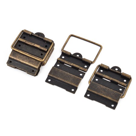 Uxcell Box Case Retro Style 57mm x 39mm Positioning Support Hinges Bronze Tone 8 PCS