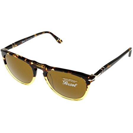 Persol Sunglasses Unisex Oval Havana 100% UV Protection PO3114S 102433 Size: Lens/ Bridge/ Temple: 53_19_145