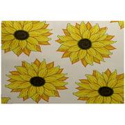 Simply Daisy 2' x 3' Sunflower Power Flower Print Indoor Rug