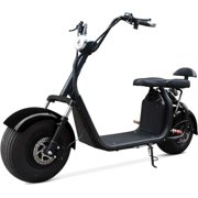 BLACK 2000W Electric Scooter 2 Seat Fat Tire Bike 18AH 60V Lithium Battery 28MPH